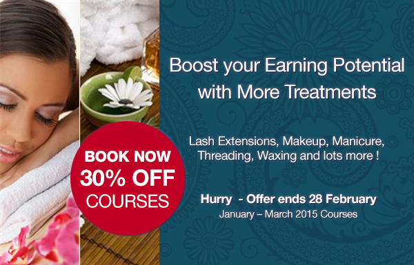 30% Off Selected Courses January - March!